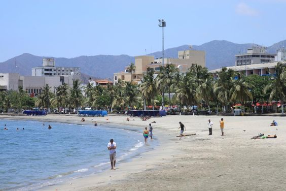 Santa Marta beach in Colombia
