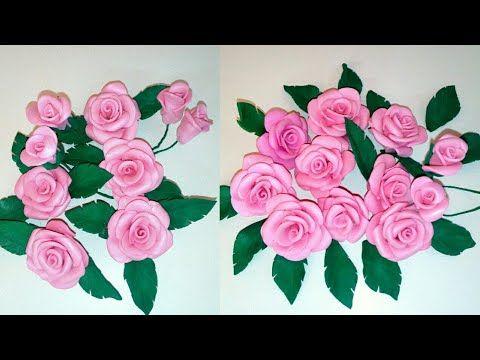 Rosas De Goma Eva Foamy Sin Molde Como Hacer Rosas De Goma Eva Rosas Facil Y Rapido Rosas Youtube Rosas En Goma Eva Manualidades Goma Eva