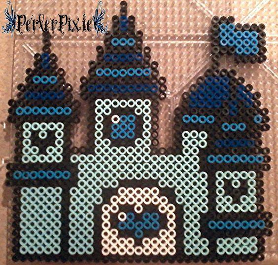 Blue Princess Castle by PerlerPixie on DeviantArt