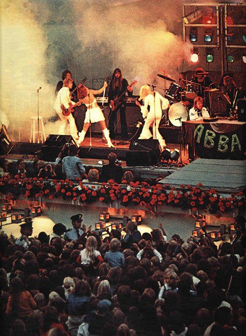 On Tour With ABBA   Abba concert, Abba, Music photo