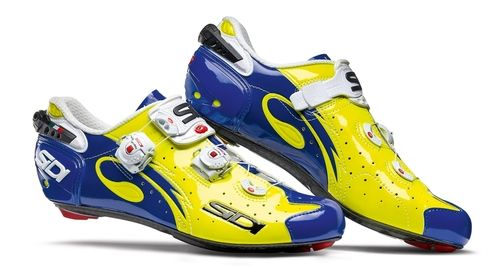 Sidi Wire Vent Carbon Push Road Shoe Flo Yellow Blue