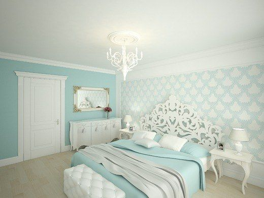 Teal Bedroom House Pinterest Light Teal Design And Accent Walls