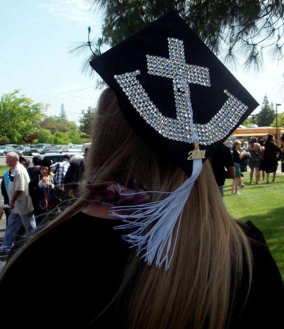 anchor graduation hat.
