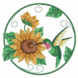 Watercolor Hummingbird And Flowers 04(Sm) machine embroidery designs