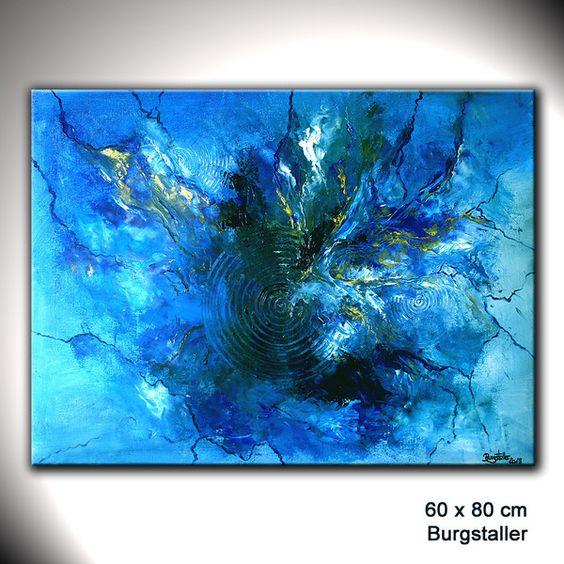 blue ozean original gem lde abstrakt moderne kunst malerei. Black Bedroom Furniture Sets. Home Design Ideas
