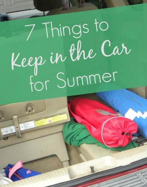 7 things to keep in the car for summer cars the o 39 jays and summer. Black Bedroom Furniture Sets. Home Design Ideas