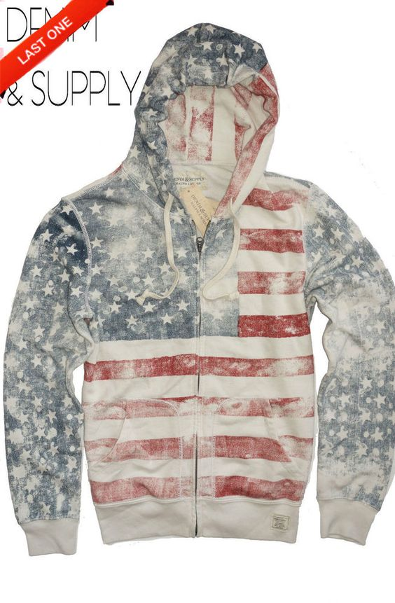 NEW Ralph Lauren Denim and Supply USA American Flag Hoodie *SOLD OUT EVERYWHERE*
