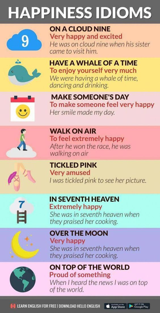 Happy Idioms #apprentissageanglais