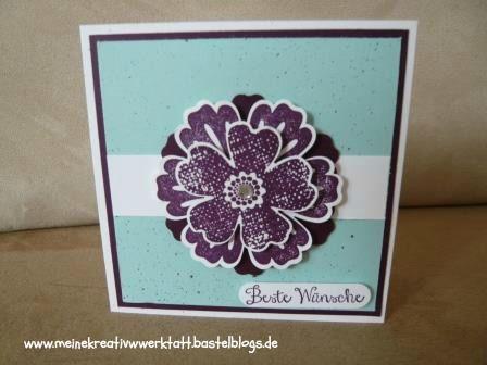 Karte Stampin up, Stanze Blume, Stanze Stiefmütterchen