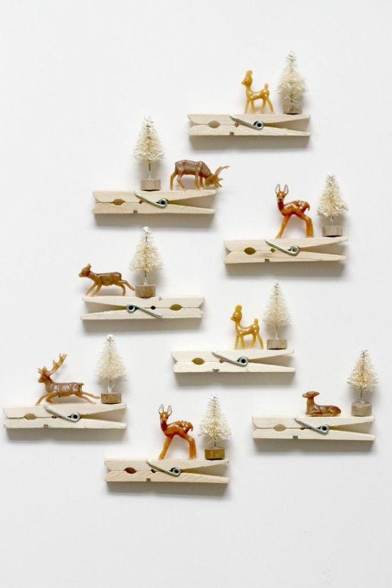 Renna Ornamenti per mollette - Quanto adorabili sarebbero questi su un albero di natale? ... - Fai Da Te