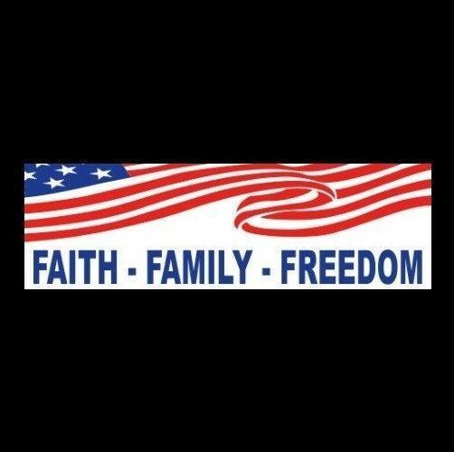 """GOP LOVE IT OR LEAVE IT/"""" patriot decal BUMPER STICKER biker veteran /""""AMERICA"""