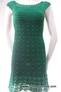 Gina dress is a free crochet pattern for beginners that ...