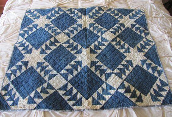 Antique Small Quilt. $92,00, via Etsy.
