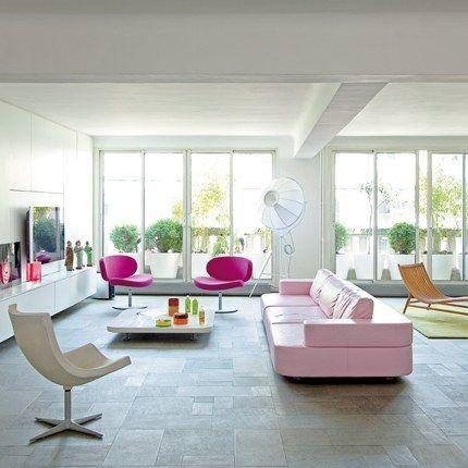 fresh apartment decor: dash of pink over white