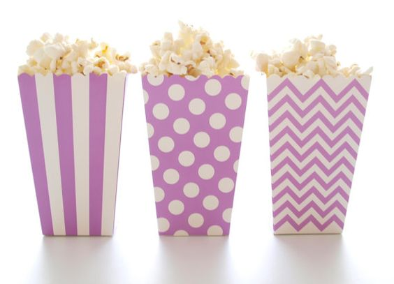 Purple Popcorn Boxes 36 Pack  Mini Movie by FoodwithFashion