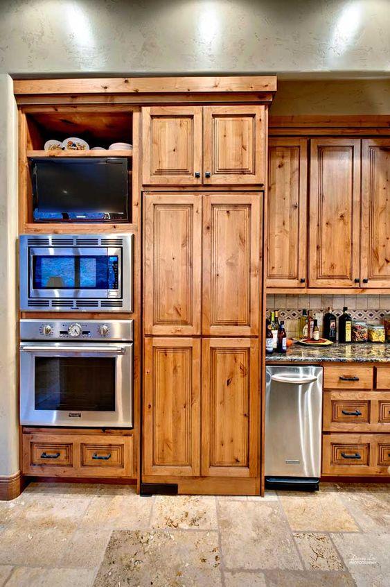 Cabinets - Knotty Alder Kitchen