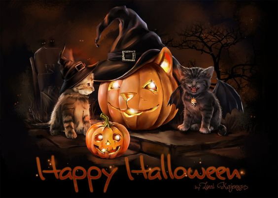 Happy Halloween Cat Cute Wallpaper - Best Wallpaper HD