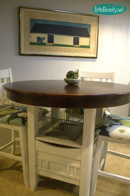 ART IS BEAUTY: Fixer Upper style Painted Pub Table Makeover