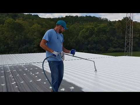 How To Clean Prep And Repair A Metal Roof For Silicone Roof Systems Roofing Systems Metal Roof Roof Coating