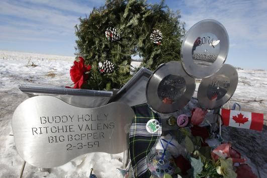 "Feb 3, 1959:  The day the music died! Rising American rock stars Buddy Holly, Ritchie Valens and J.P. ""The Big Bopper"" Richardson are killed when their chartered Beechcraft Bonanza plane crashes in Iowa a few minutes after takeoff from Mason City on a flight headed for Moorehead, Minnesota. Investigators blamed the crash on bad weather and pilot error. Holly and his band, the Crickets, had just scored a No. 1 hit with ""That'll Be the Day."""