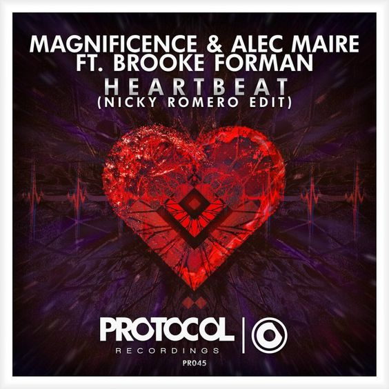 Magnificence & Alec Maire, Brooke Forman – Heartbeat (single cover art)