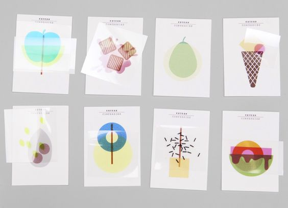 keukenconfessies layerered shapes to make designs for business cards