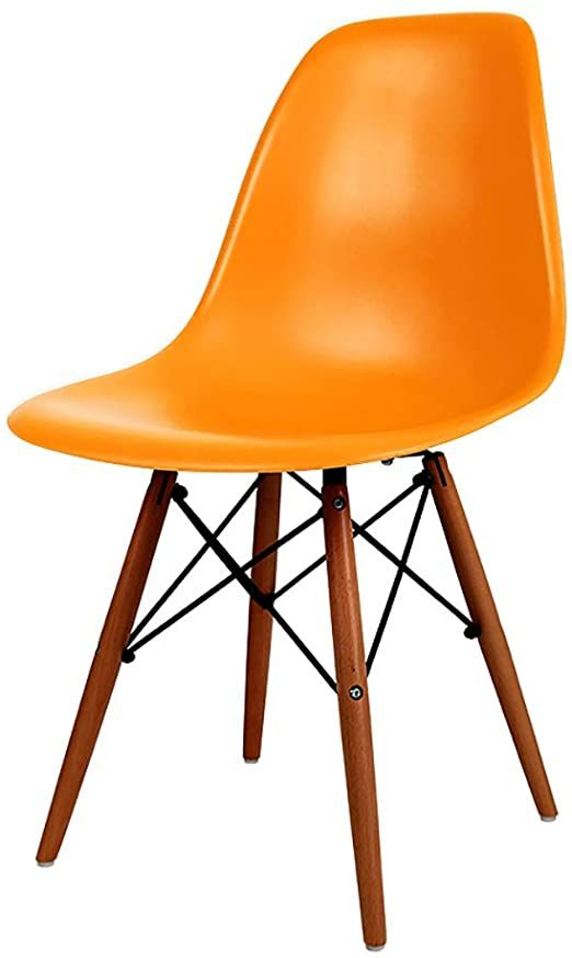 Qyj Dining Chair Kitchen Chair Abs Plastic With Seat Cushion And Backrest Solid Wood Legs Chair Height 82cm In 2020 Dining Chairs Chair Kitchen Chairs
