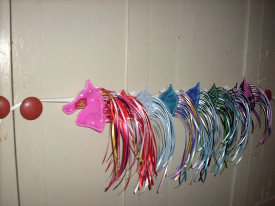 ETSY Party Pack 10 Horse Hair clip with long ribbon mane by NiahBella, $35.00 birthday favors