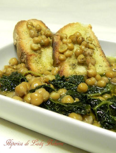 Italian Food - Zuppa di ceci e cavolo nero