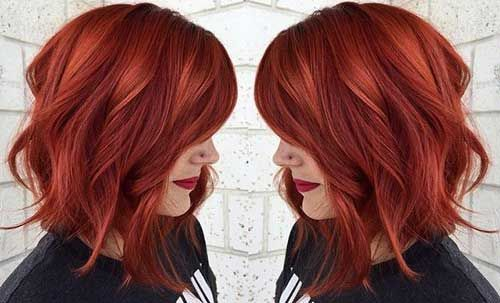Girl with Undercut Short Haircut Red-Bob-Hair-for-Gir