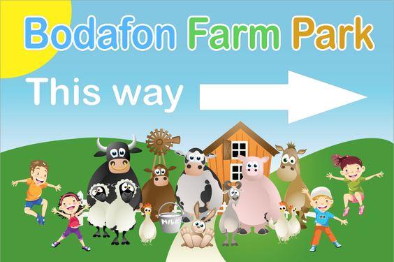 A large scale sign we designed for a farm park / restaurant #print #graphics #design #sign