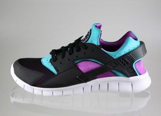 Nike Huarache Lila Schwarz