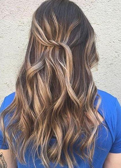 Best Hair Color Ideas 2017 2018 Blended Blonde Highlights On Darker Hair Trendyideas N Dark Hair With Highlights Hair Styles Blonde Highlights On Dark Hair