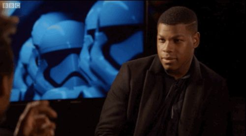 "And then suggested a new tagline. | 19 Signs That John Boyega Is Enjoying Being In ""Star Wars"" So Damn Much"