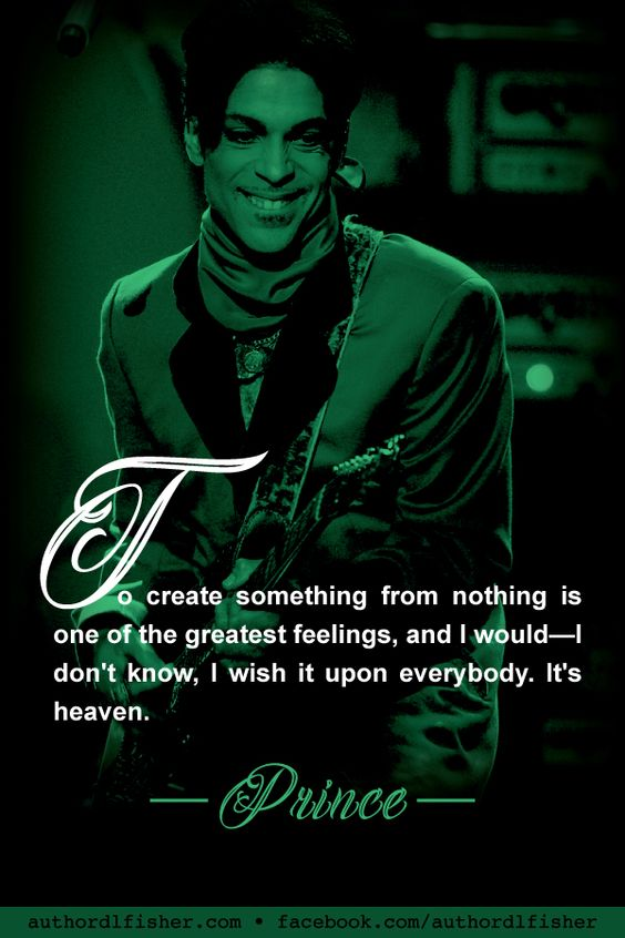 Beautiful words from creative genius, Prince. #prince #songwriting #creativity #WritingInspiration