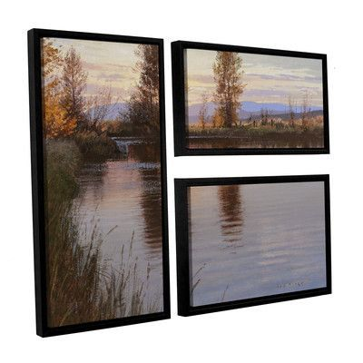 ArtWall 'Just Before Nightfall' by Jay Moore 3 Piece Framed Photographic Print Set