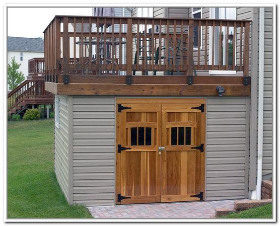 Under decks storage sheds and decks on pinterest for Garden shed on decking