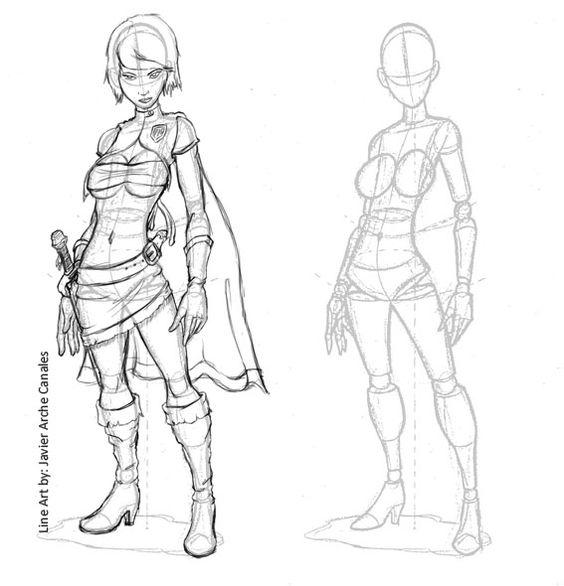 Quiero ser creador de videojuegos: Dibujo de personajes: Muñecos de palo y volumen