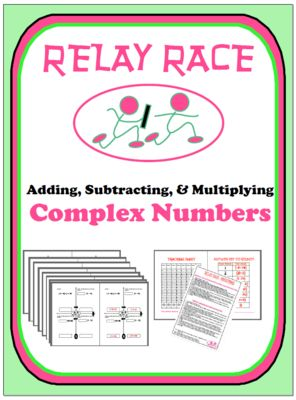 math worksheet : relay race  complex numbers addition subtraction  : Adding And Subtracting Complex Numbers Worksheet