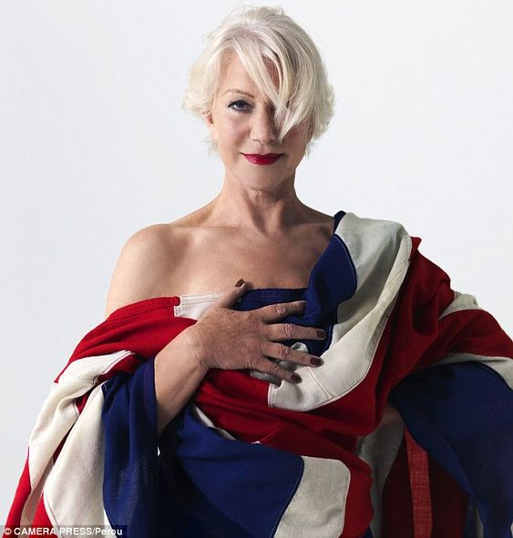 Outspoken: British actress Dame Helen Mirren, pictured in a Union Jack Flag, is known strong opinions