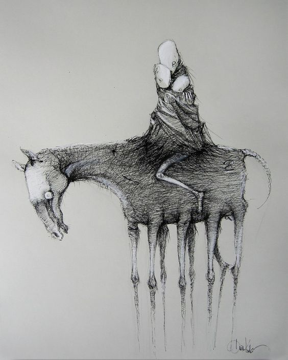 "Saatchi Online Artist: Daria Kudla; Pen and Ink, 2012, Drawing ""to my imaginary children..."""