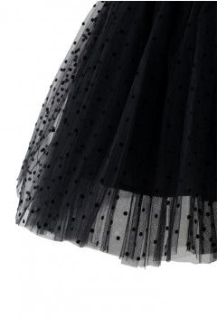 Polka Dots Tulle Skirt in Black - Retro, Indie and Unique Fashion