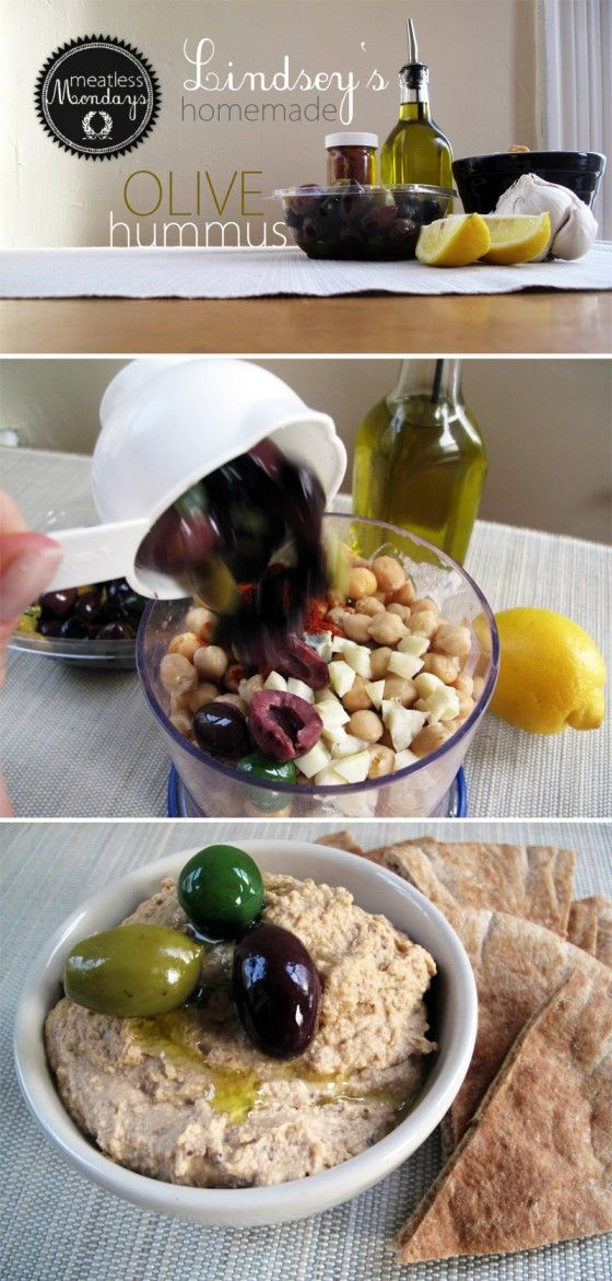Homemade Olive Hummus
