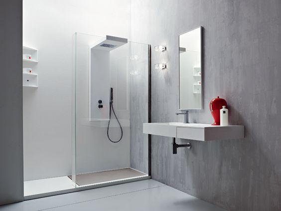Plato de ducha a ras de suelo rectangular de acr lico argo - Platos de ducha a ras de suelo ...