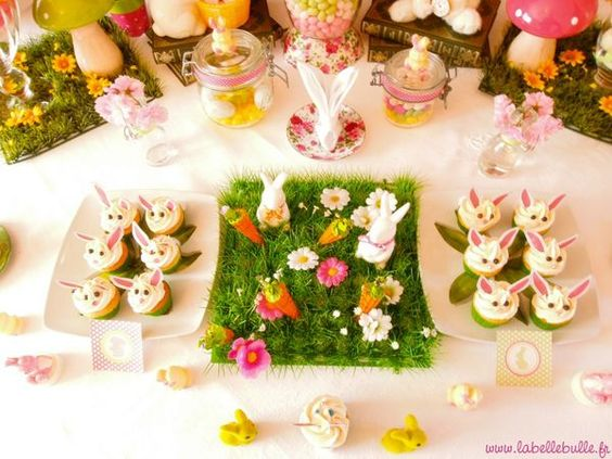 Une sweet table alice au pays des merveilles pour un for Au jardin d alice