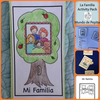 La Familia Family Theme ACTIVITY PACK + MINIBOOK Spanish ... - photo#33