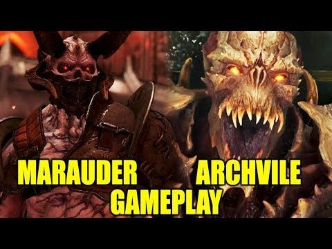 New Doom Eternal Multiplayer Marauder Gameplay Archvile And More