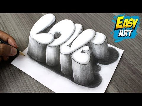 Super Facil How To Draw 3d Love Como Dibujar Amor 3d
