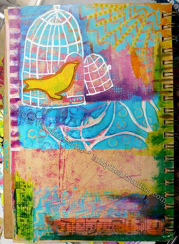 """Soar & Fly"" Art Journal Page : Before 2"