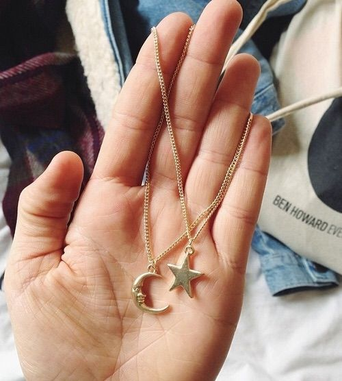 Image via We Heart It https://weheartit.com/entry/176523941/via/32779000 #beautiful #boy #couple #fashion #forever #girl #love #lovely #moon #necklace #perfect #pretty #star #together #loveir #gorgeoís
